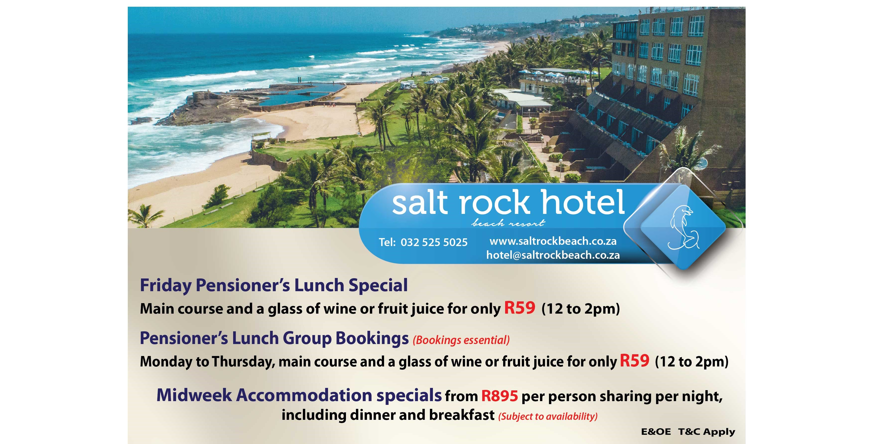 Pensioner Specials at Salt Rock Hotel